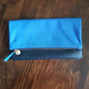 NWOT Clare Viver | Blue Fold Over Clutch